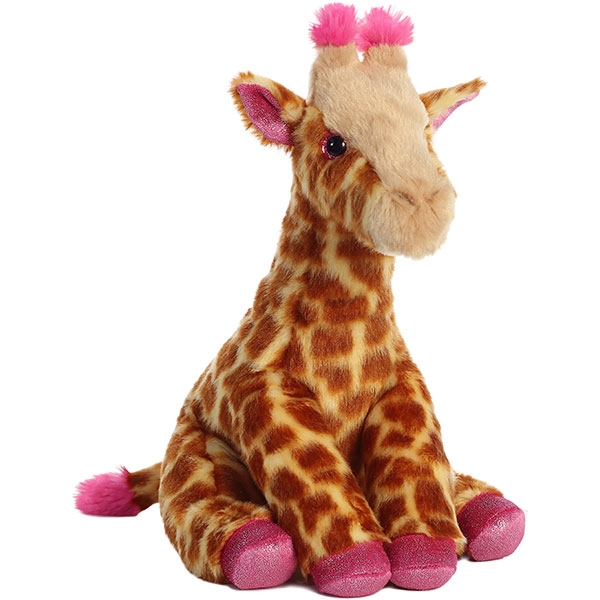 GIRAFFE WITH PINK ACCENTS