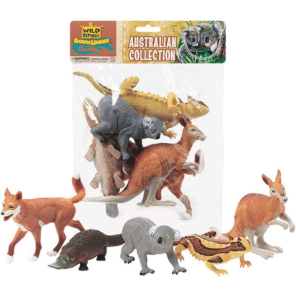 POLYBAG OF AUSTRALIAN FIGURINES