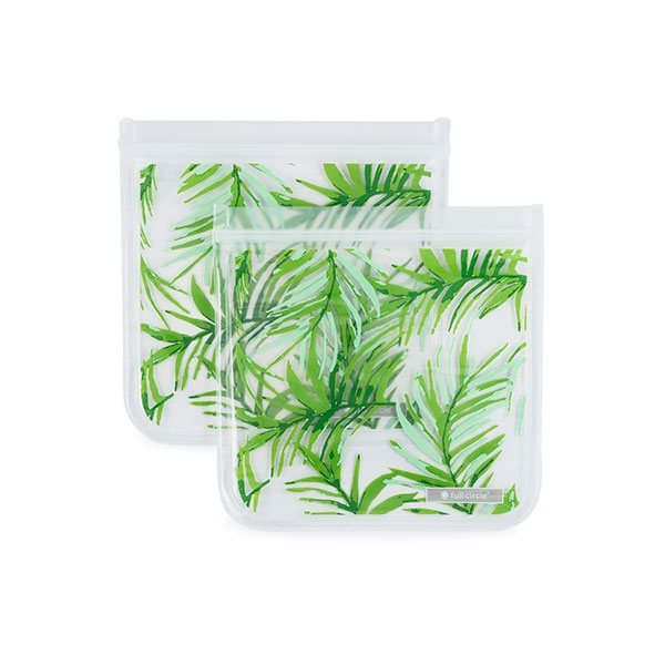 REUSABLE SANDWICH BAG 2 PACK PALM LEAVES