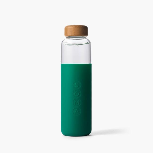 SOMA GLASS WATER BOTTLE EMERALD