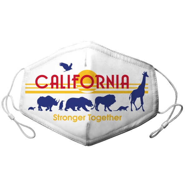 ADULT ADJUSTABLE CALIFORNIA LICENCE PLATE ZOO ANIMAL MASK