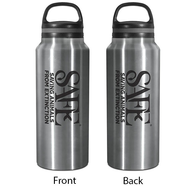 STAINLESS STEEL GROWLER WITH SAFE LOGO