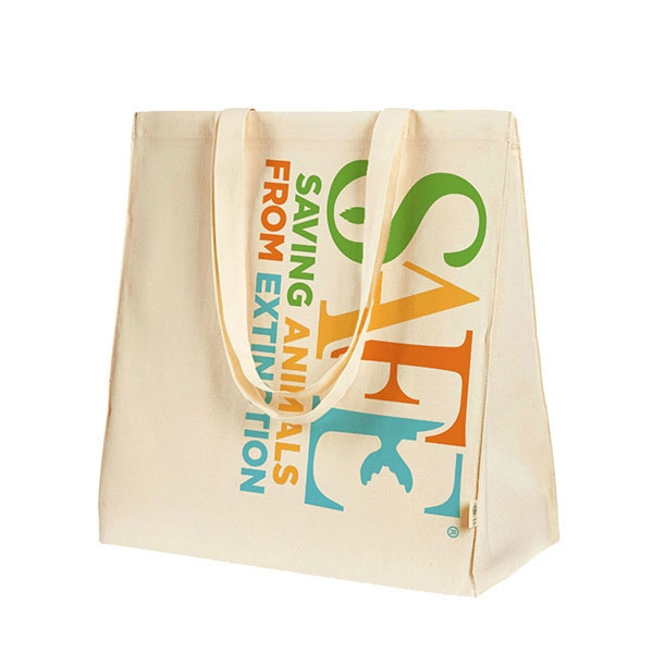 ORGANIC COTTON TOTE SAFE LOGO