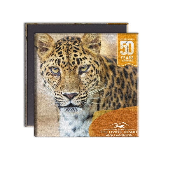 LEOPARD CANVAS MAGNET