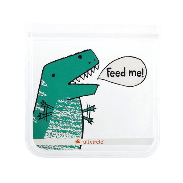 REUSABLE SANDWICH BAG 2 PACK DINOSAUR