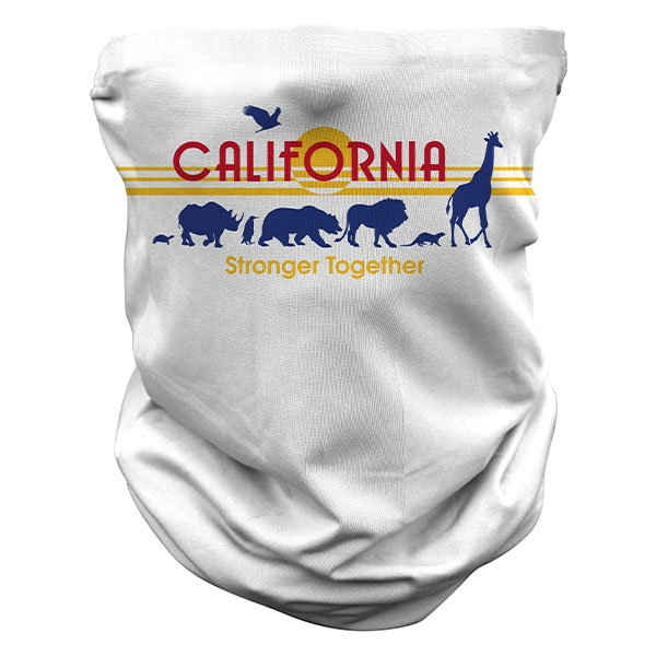 ADULT ZOO CALIFORNIA PLATE NECK GAITER