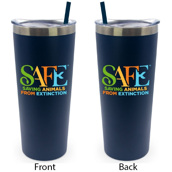 BLACK TUMBLER WITH SAFE LOGO