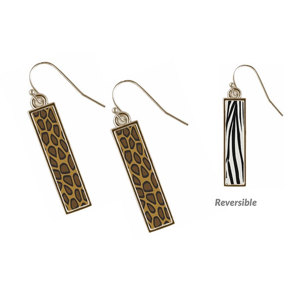 Vintage Safari Vertical Bar Earrings