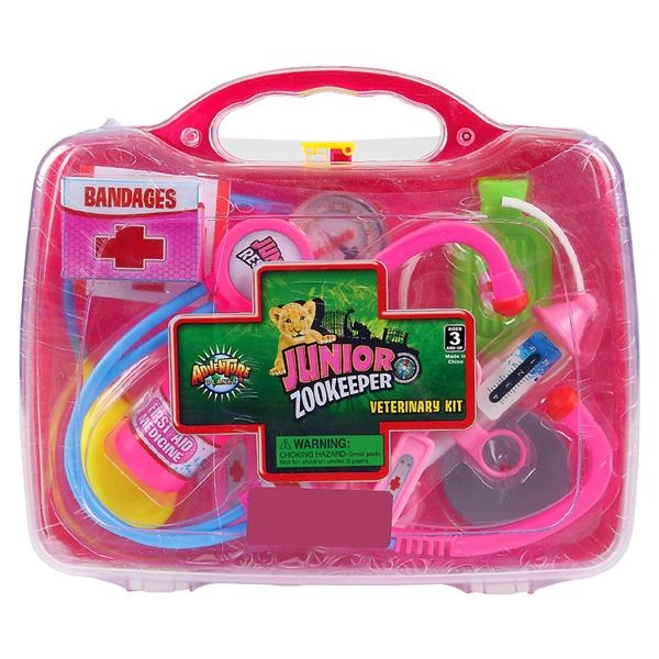 JUNIOR  ZOO KEEPER VET KIT PINK