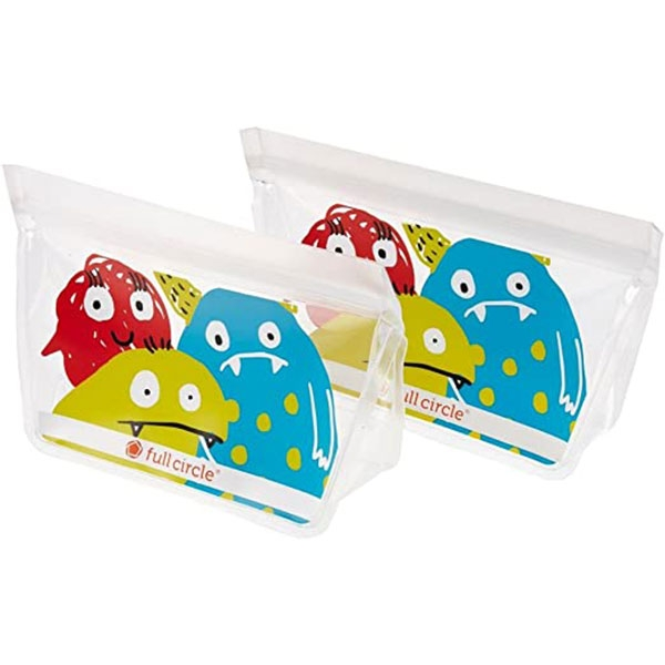 REUSABLE SNACK BAG 2 PACK MONSTERS