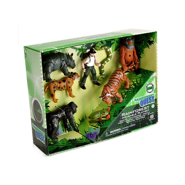 RAINFOREST QUEST MOVABLE ANIMALS PLAYSET