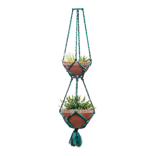 HANGING POT SARI MACRAME TIERED