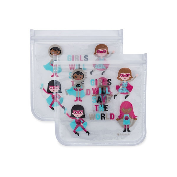 REUSABLE SANDWICH BAG 2 PACK GIRL HERO