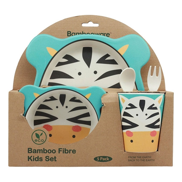 BAMBOO DINNER SET ZEBRA