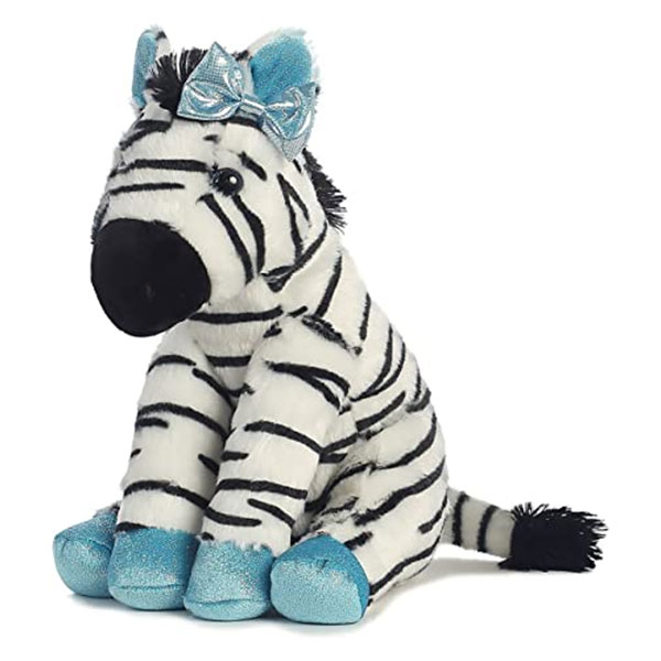 ZEBRA WITH BLUE ACCENTS
