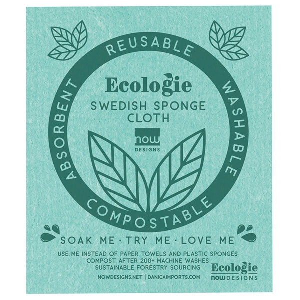 SWEDISH SPONGE CLOTH GREEN LOVE