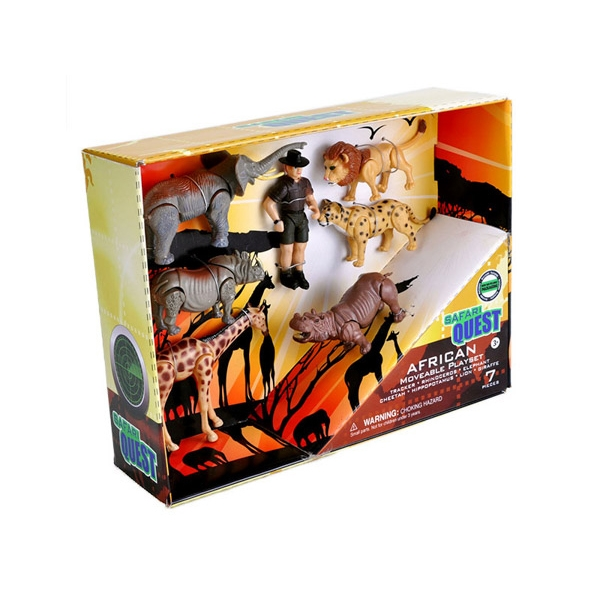 SAFARI QUEST MOVABLE ANIMALS PLAYSET