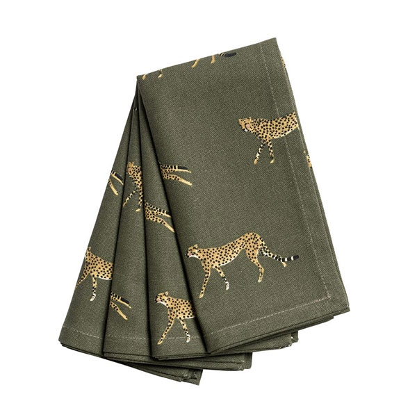 CHEETAH NAPKIN SET