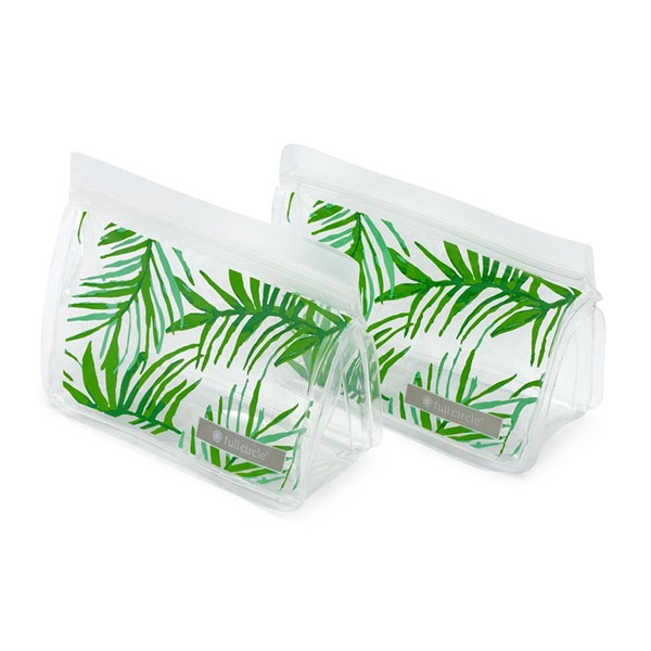REUSABLE SNACK BAG 2 PACK PALM LEAVES