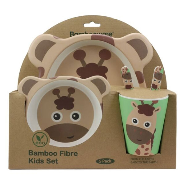 BAMBOO DINNER SET GIRAFFE