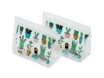 REUSABLE SNACK BAG 2 PACK CACTUS